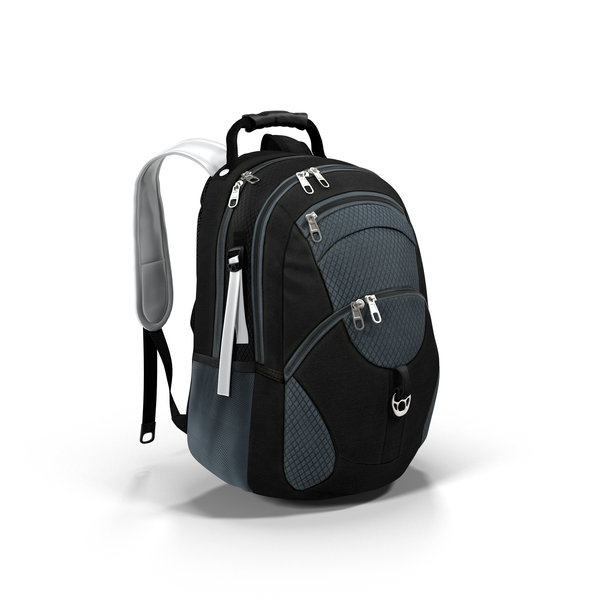 Backpack Blue and Black Object