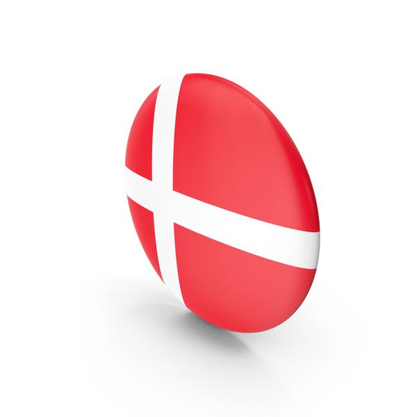 Flag: Badge Denmark PNG & PSD Images