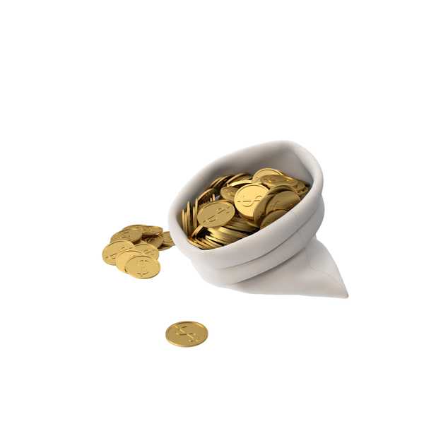 Bag of Gold Coins PNG & PSD Images