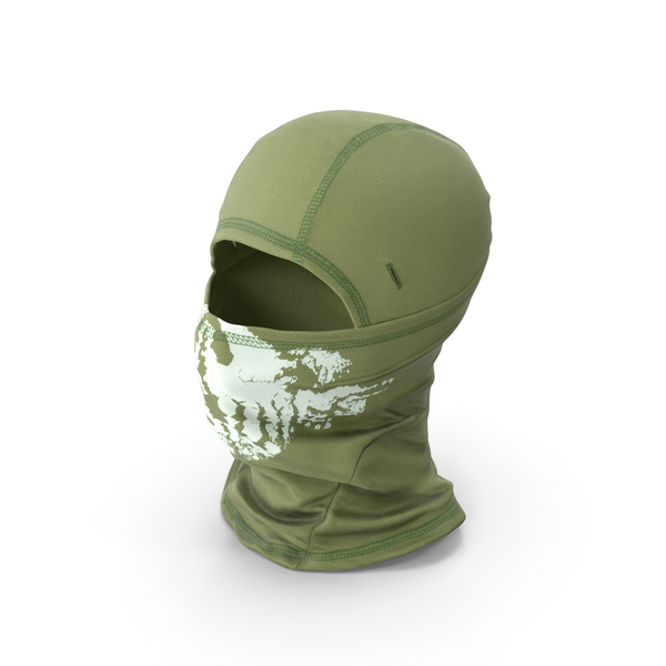 Balaclava Mask Green PNG & PSD Images