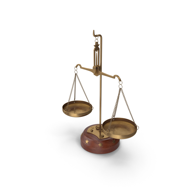 Balance Scales with Weights PNG & PSD Images