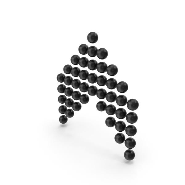 Ball Arrow Up Black PNG & PSD Images