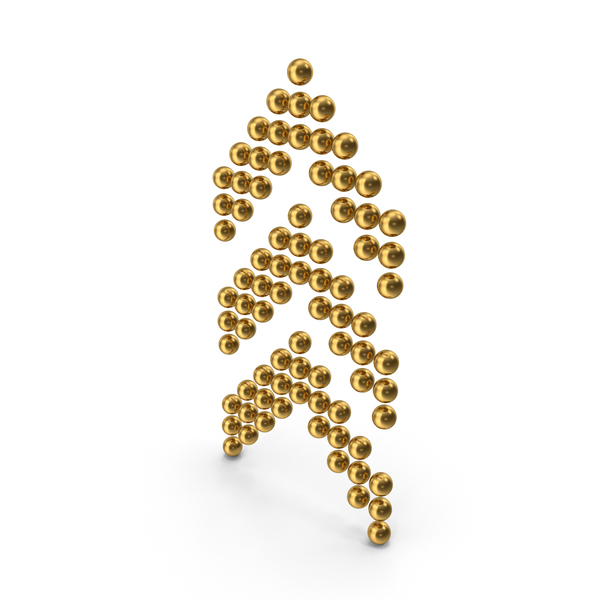 Directional Arrow: Ball Arrows Up Gold PNG & PSD Images