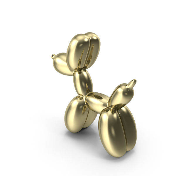 Balloon Gold Dog Decor Modern Sculpture Artist PNG & PSD Images