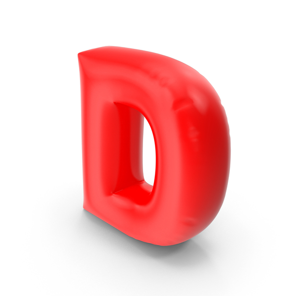 Balloon Letter D PNG & PSD Images