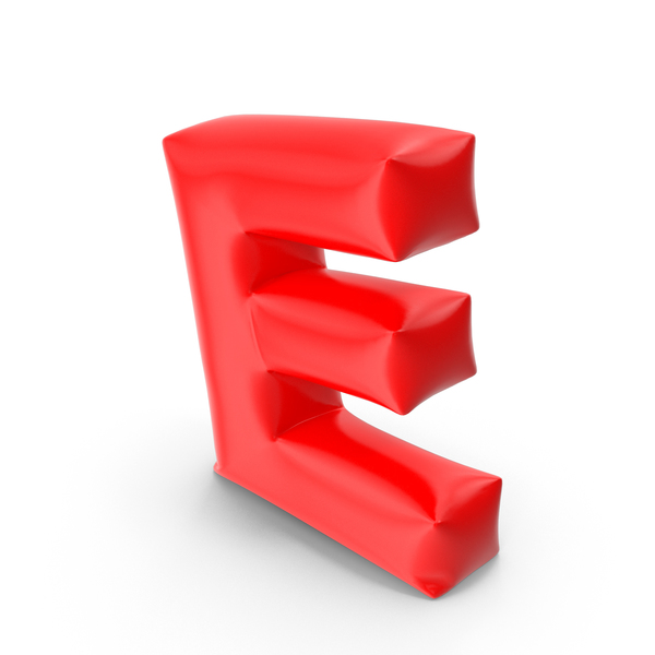 Balloon Letter E PNG & PSD Images