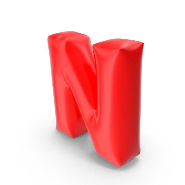 Balloon Letter N PNG & PSD Images