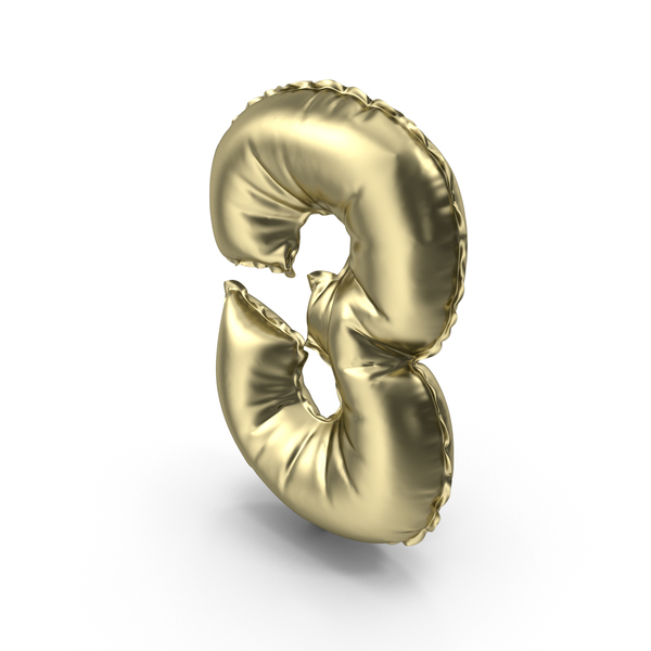 Balloon Number 3 PNG & PSD Images