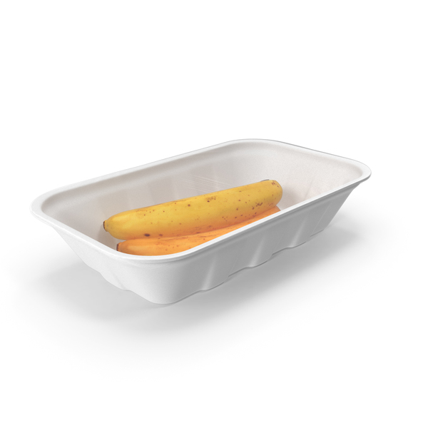 Container: Bananas Wrapped Food Tray PNG & PSD Images