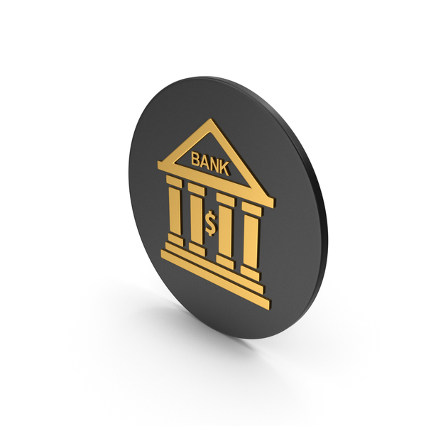 Computer: Bank Gold Icon PNG & PSD Images