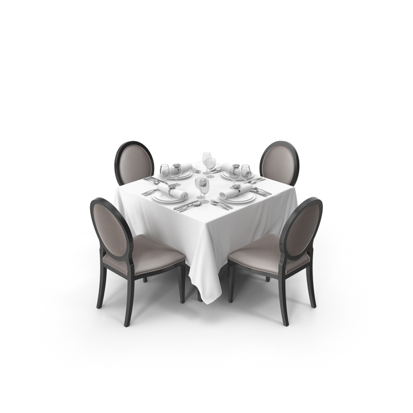 Banquet Dining Table Set PNG & PSD Images