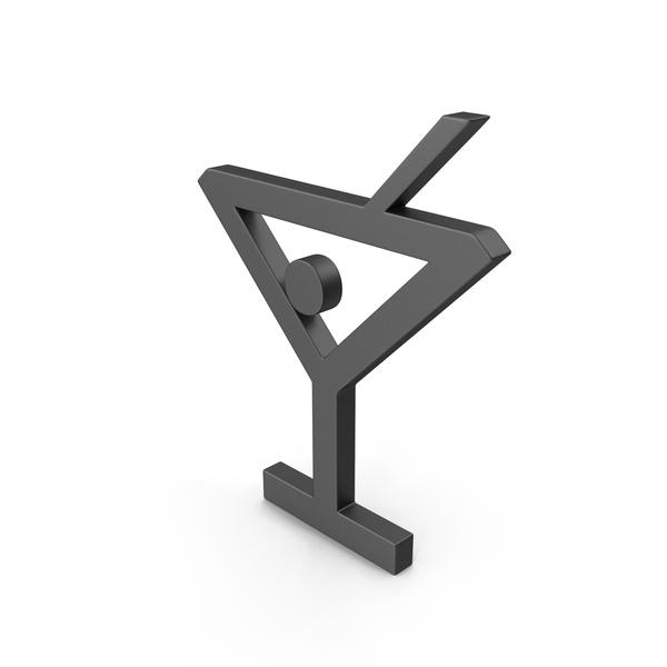 Bar Glass Symbol Black PNG & PSD Images
