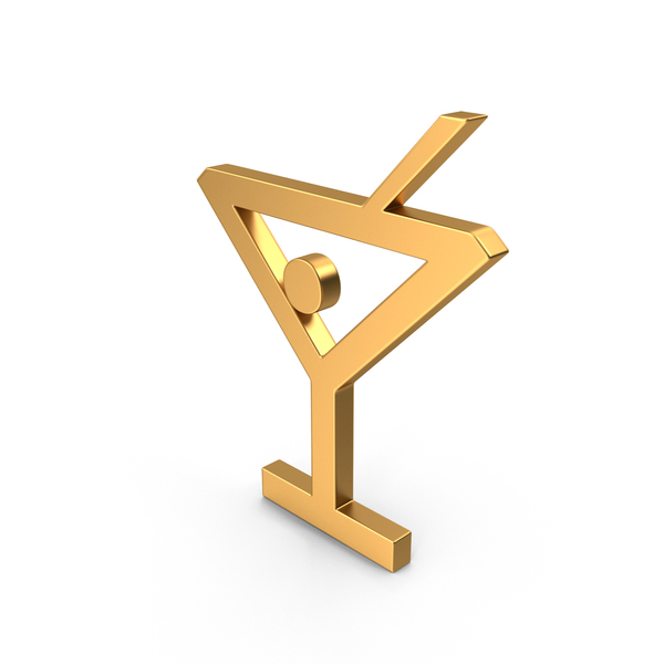 Bar Glass Symbol Gold PNG & PSD Images