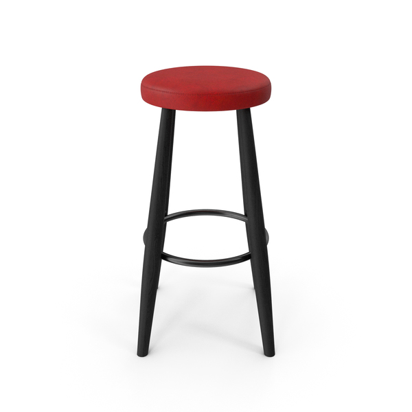 Bar Stool Black Red PNG & PSD Images