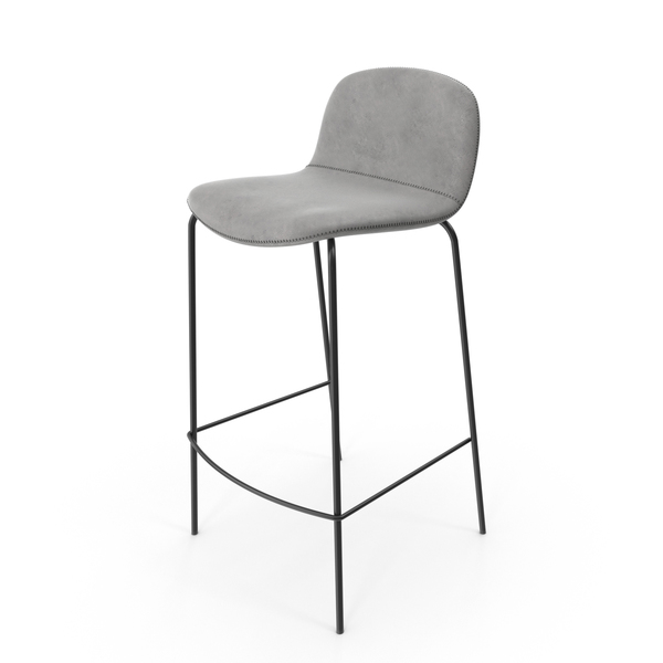 Bar Stool Grey PNG & PSD Images