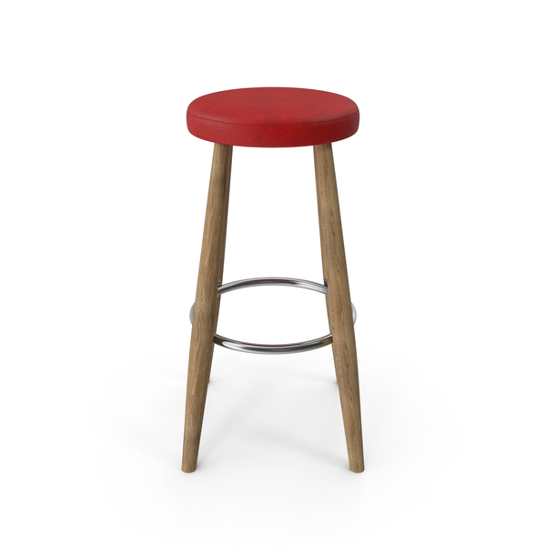 Bar Stool Red PNG & PSD Images