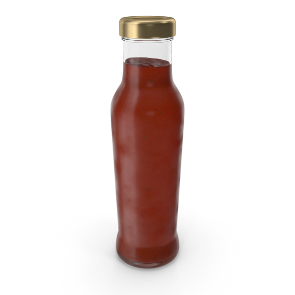 Barbecue Sauce Glass Bottle PNG & PSD Images