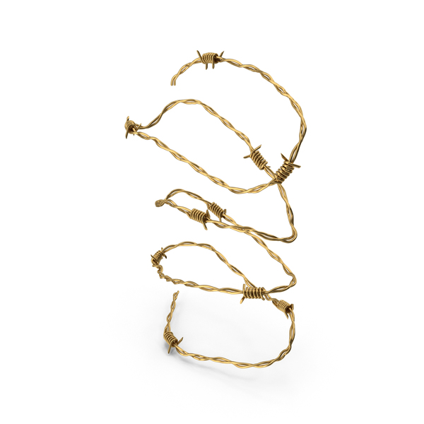 Barbed Wire Gold PNG & PSD Images