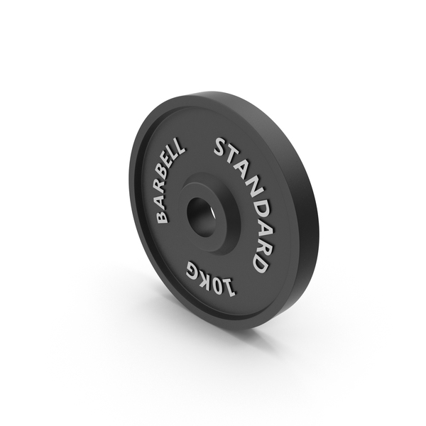 Barbell Weight Standard 10 kg PNG & PSD Images