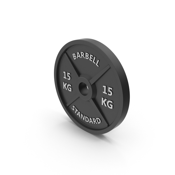 Barbell Weight Standard 15 kg PNG & PSD Images