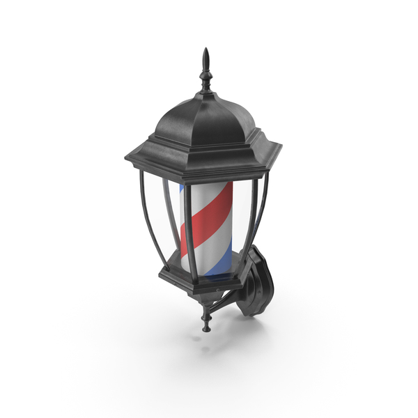 Sign: Barbershop Lamp Classic PNG & PSD Images