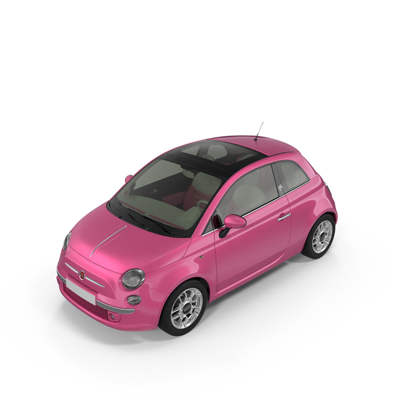 Toy Car: Barbie Fiat 500 PNG & PSD Images