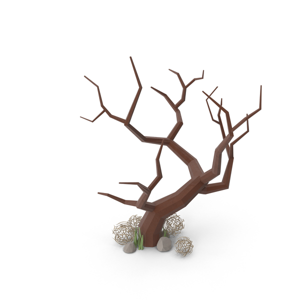 Bare Tree and Tumbleweed PNG & PSD Images