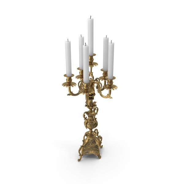 Baroque Candelabra PNG & PSD Images