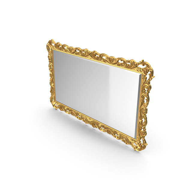 Baroque Carved Frame Wall Mirror PNG & PSD Images
