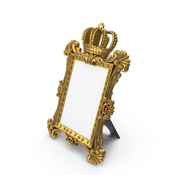 Baroque Crown Photo Frame PNG & PSD Images
