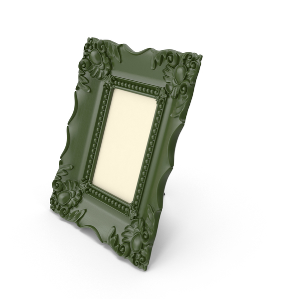 Baroque Green Vintage Photo Frame PNG & PSD Images