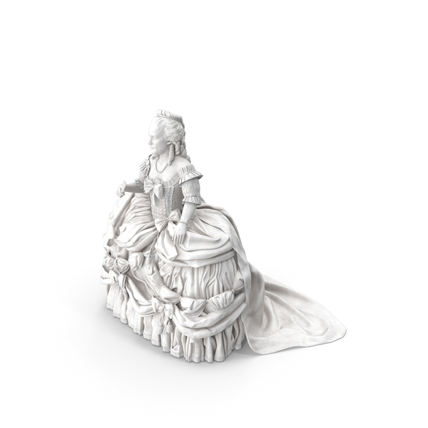 Woman Statue: Baroque Lady PNG & PSD Images