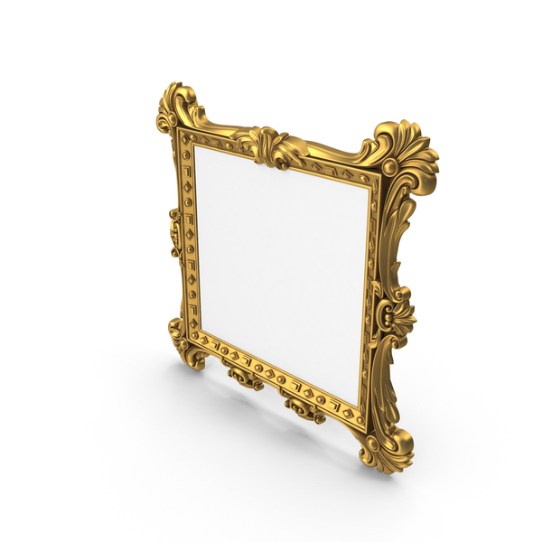 Baroque Mirror Picture Frame PNG & PSD Images