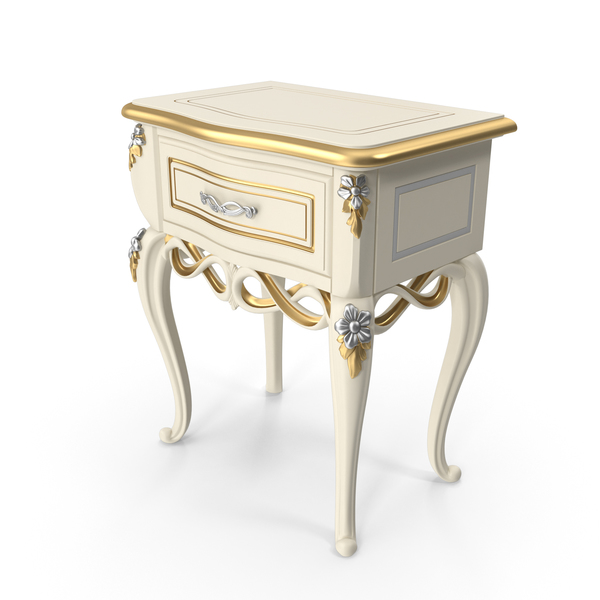 Baroque  Nightstand PNG & PSD Images
