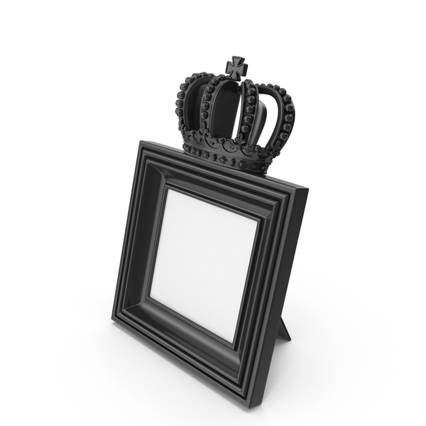 Baroque Photo Frame Black PNG & PSD Images