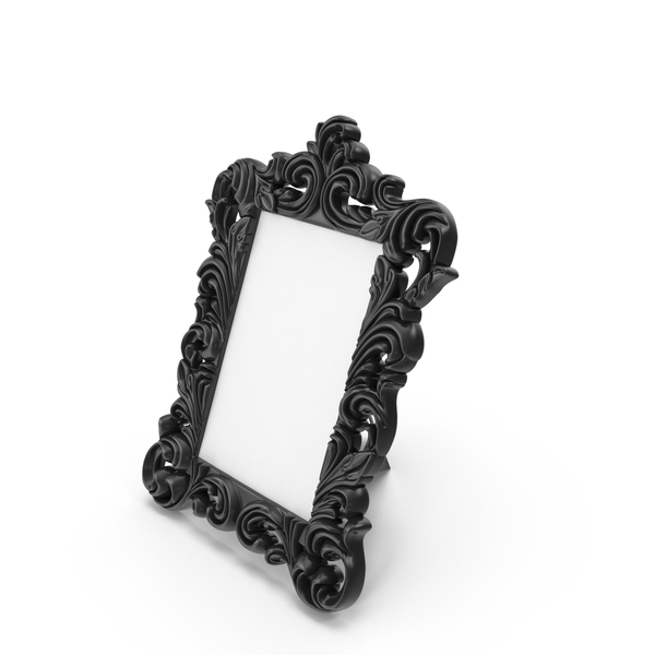 Picture: Baroque Photo Frame Black PNG & PSD Images