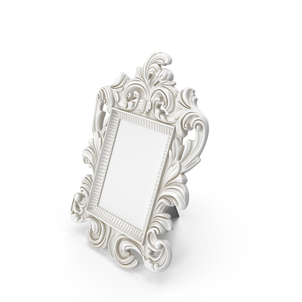 Baroque Photo Frame Dirt White PNG & PSD Images