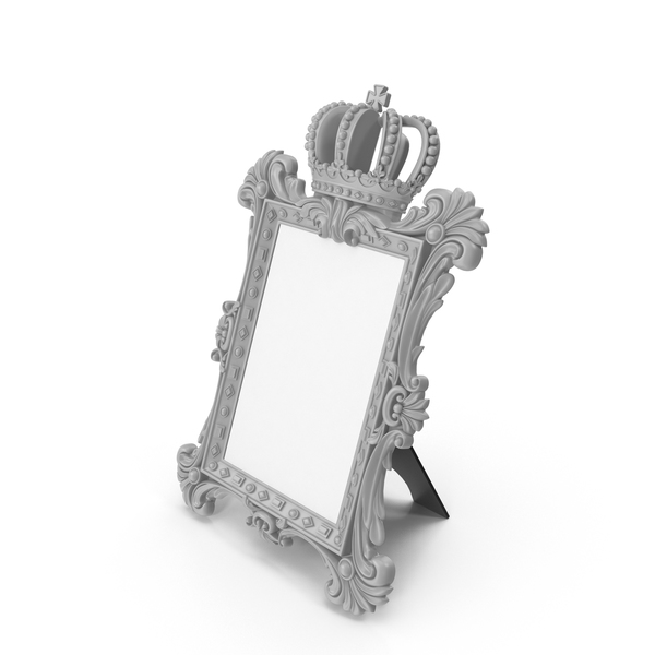 Picture: Baroque Photo Frame Grey PNG & PSD Images
