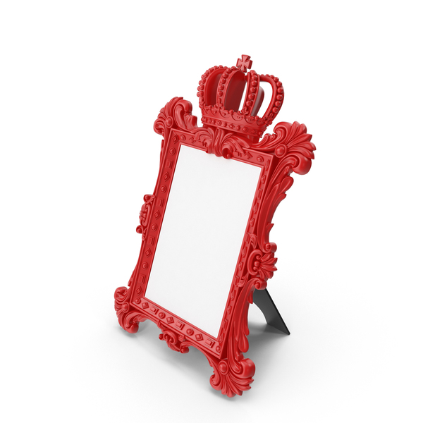 Baroque Photo Frame Red PNG & PSD Images