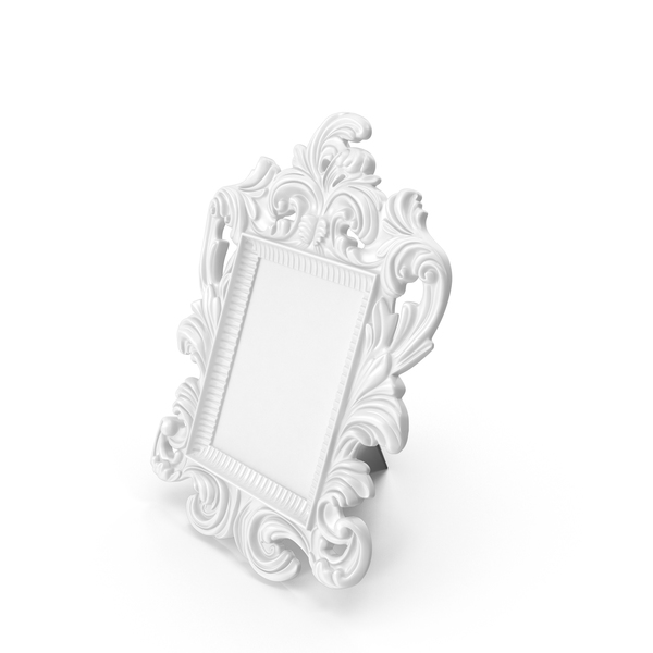Picture: Baroque Photo Frame White PNG & PSD Images