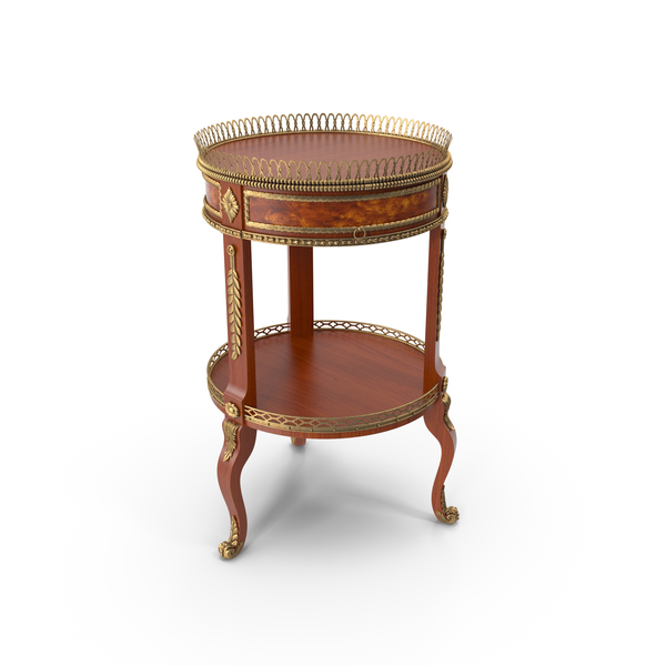 Baroque Side Table PNG & PSD Images