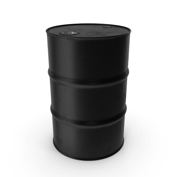 Steel: Barrel Metal Clean Black PNG & PSD Images