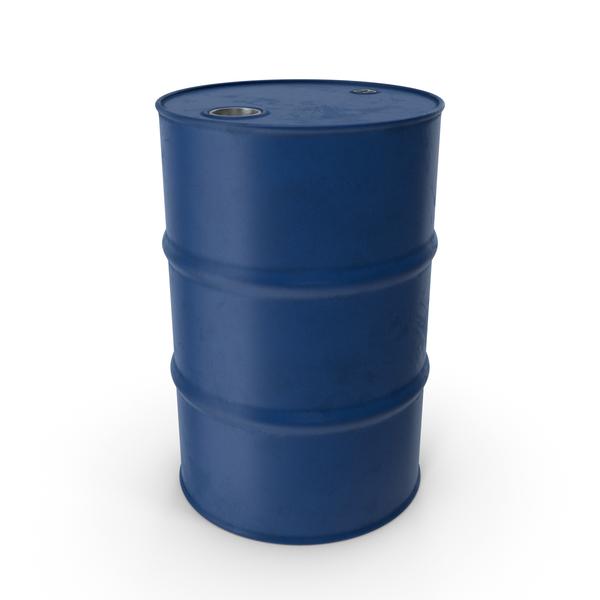 Barrel Metal Clean Blue PNG & PSD Images