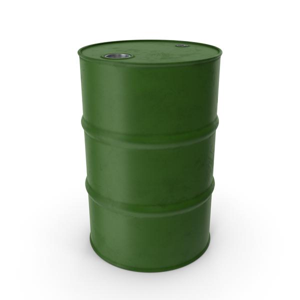 Steel: Barrel Metal Clean Green PNG & PSD Images