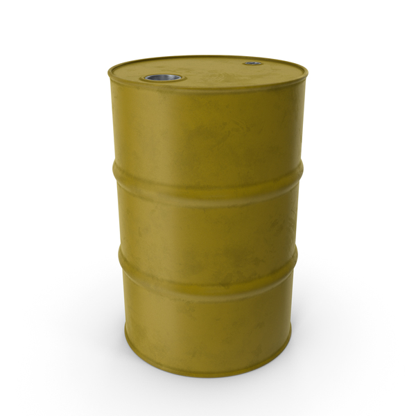 Barrel Metal Clean Yellow PNG & PSD Images