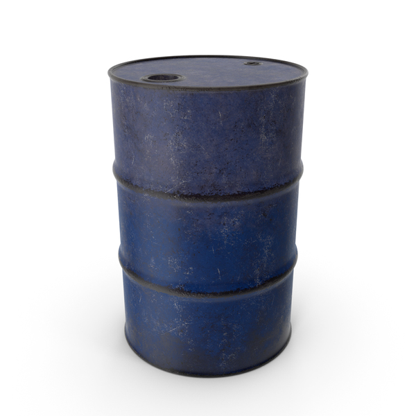 Barrel Metal Old Blue PNG & PSD Images