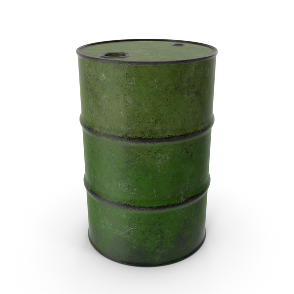 Barrel Metal Old Green PNG & PSD Images