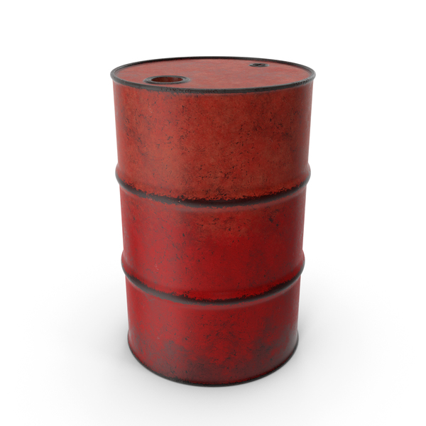 Barrel Metal Old Red PNG & PSD Images