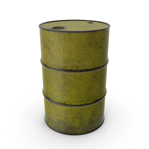 Barrel Metal Old Yellow PNG & PSD Images