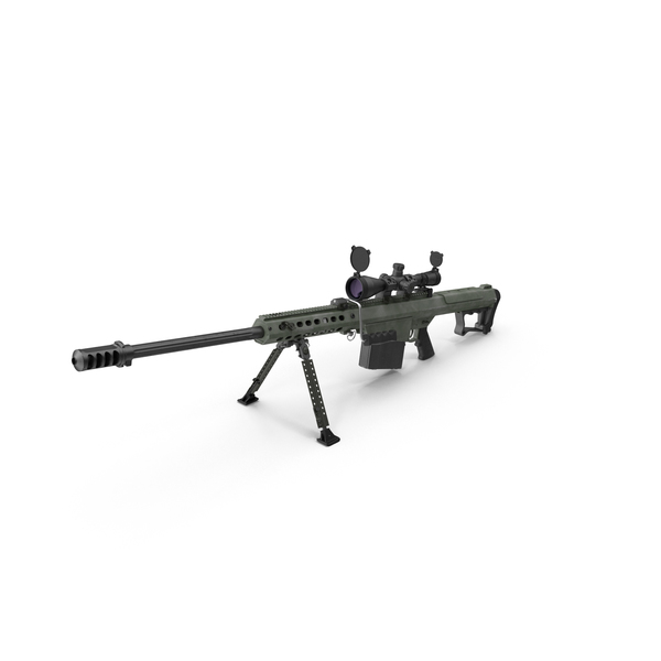 Sniper Rifle: Barrett M107 PNG & PSD Images